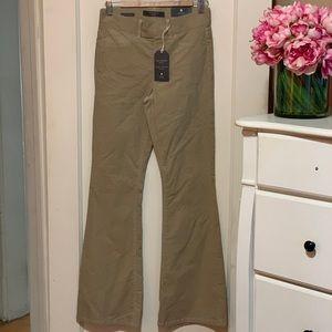 High Waisted Flare Corduroy Pants